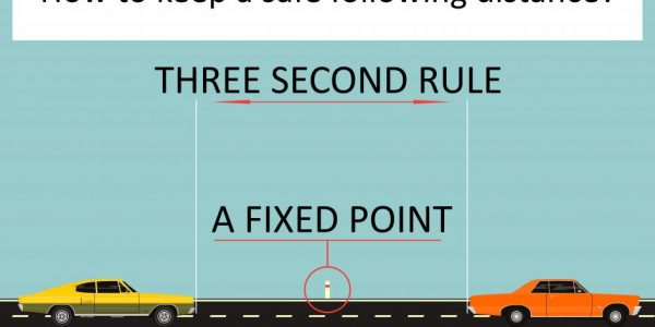 What is a Safe Following Distance? (The 3 Second Rule)