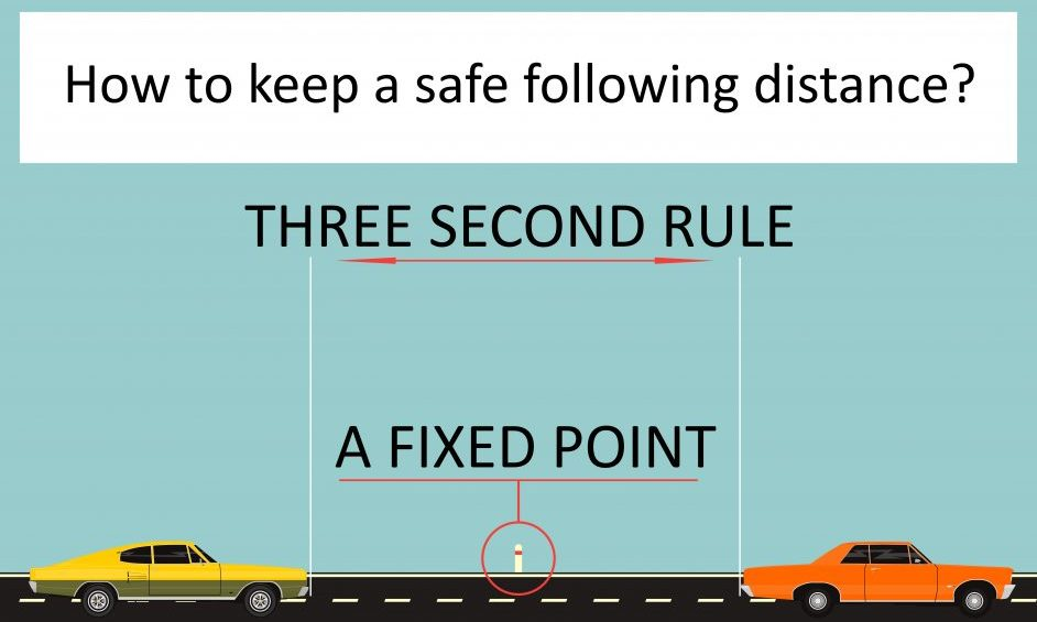 What is a Safe Following Distance? (The 3 Second Rule