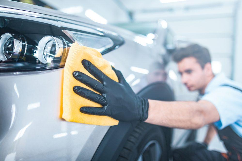 car-washing mitt