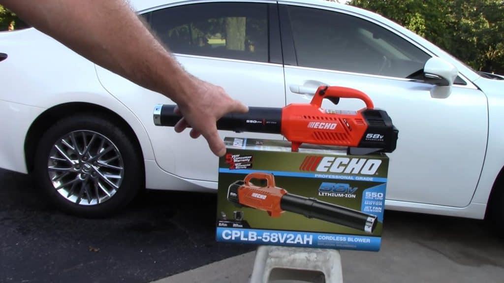 leaf blower to dry car