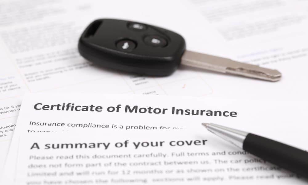 Certificate of car insurance