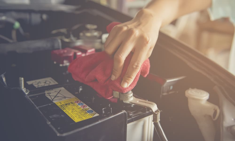 Clean Out the Car Battery