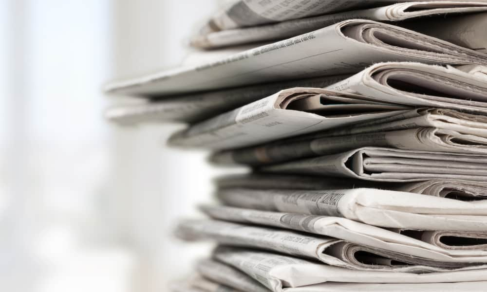 Crumpled up newspaper