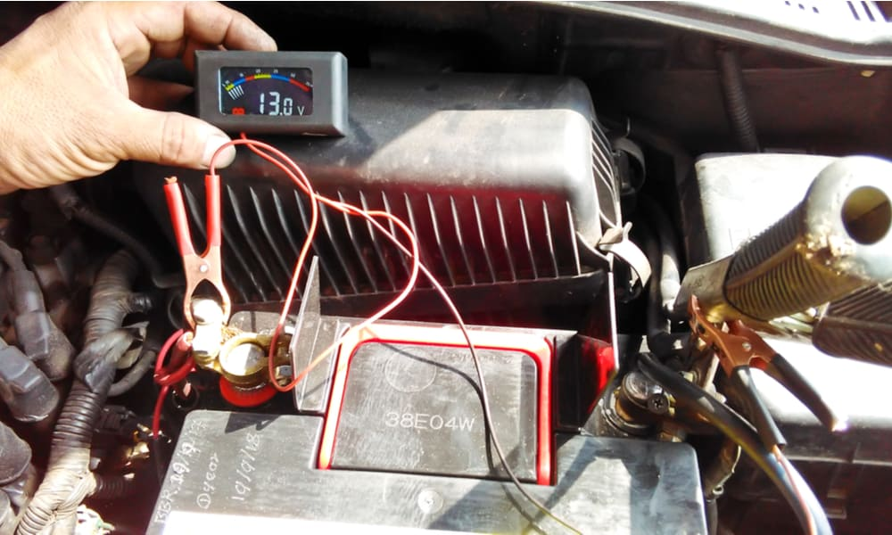 Determine the Voltage of the Battery
