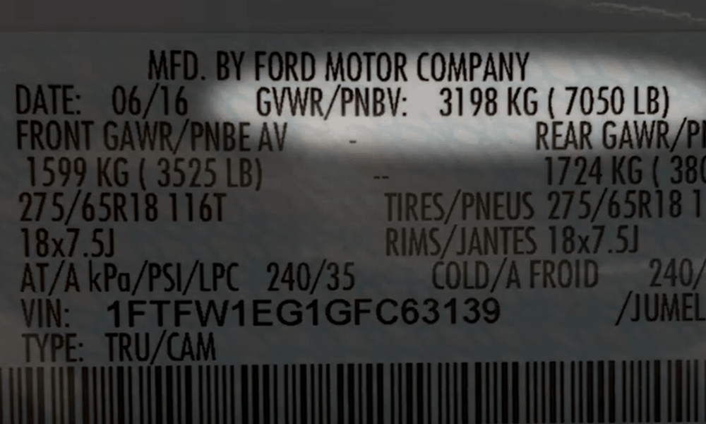 Gross Vehicle Weight Rating