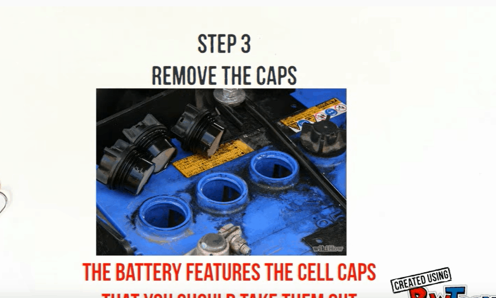 Pour out the Contents of the Car Battery