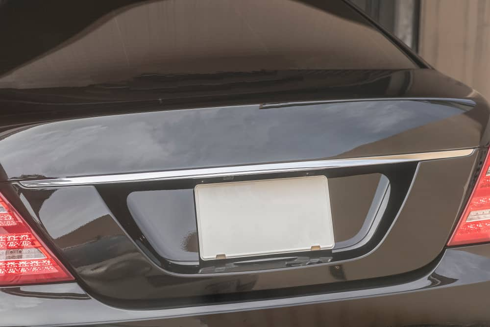 RSKKEYSEU U.S Regulations Auto Modification License Plate Cover Aluminum Alloy Licence Plate Frame Adults On Board We Want to Live Too