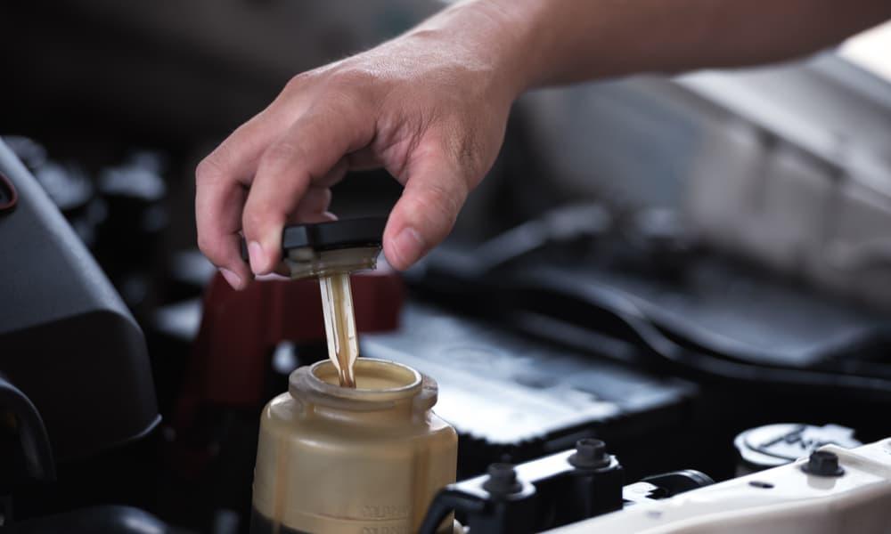 Contaminated power steering fluid