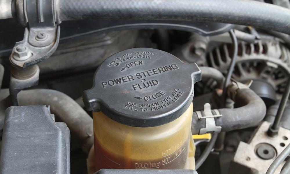 Leaking of power steering fluid