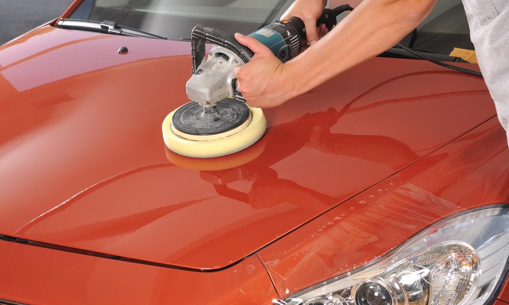 Clean the car paint carefully