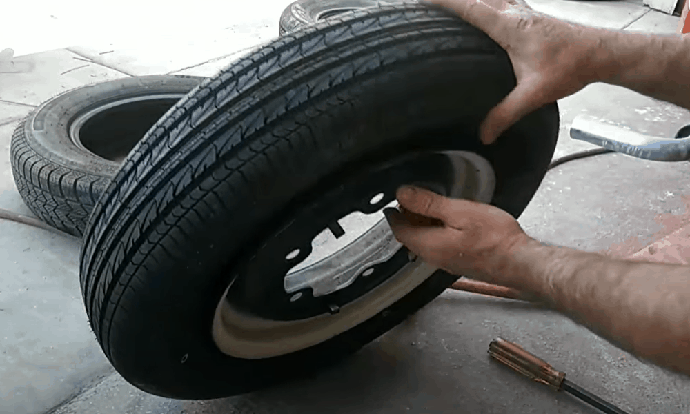 Installing the Tire on the Rim