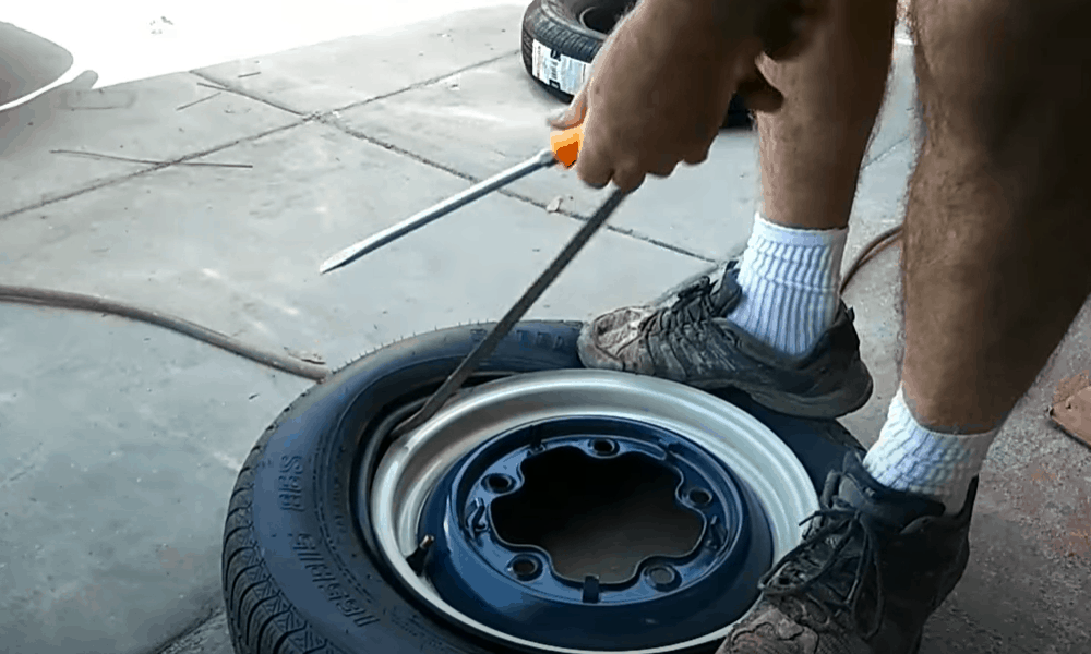 Remove the Tire from One Side