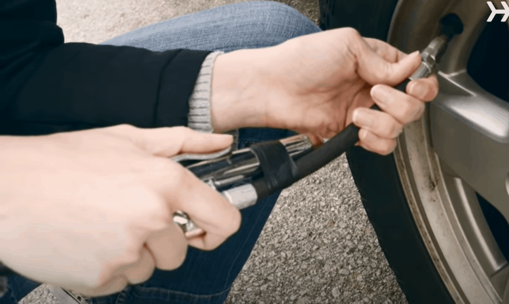 Inflate the Tires Using an Air Pump