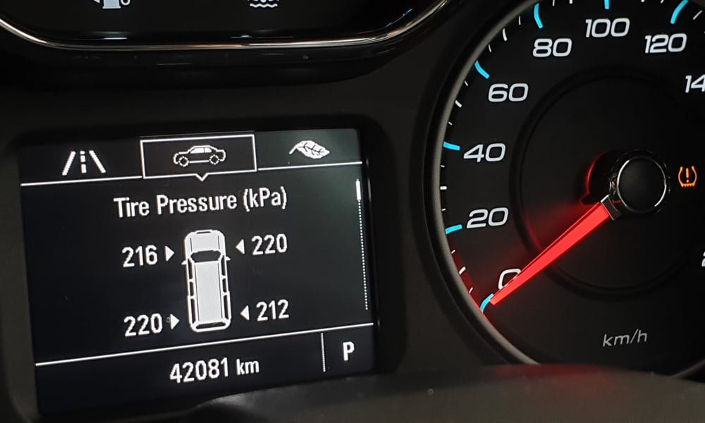 Consult your vehicle's TPMS