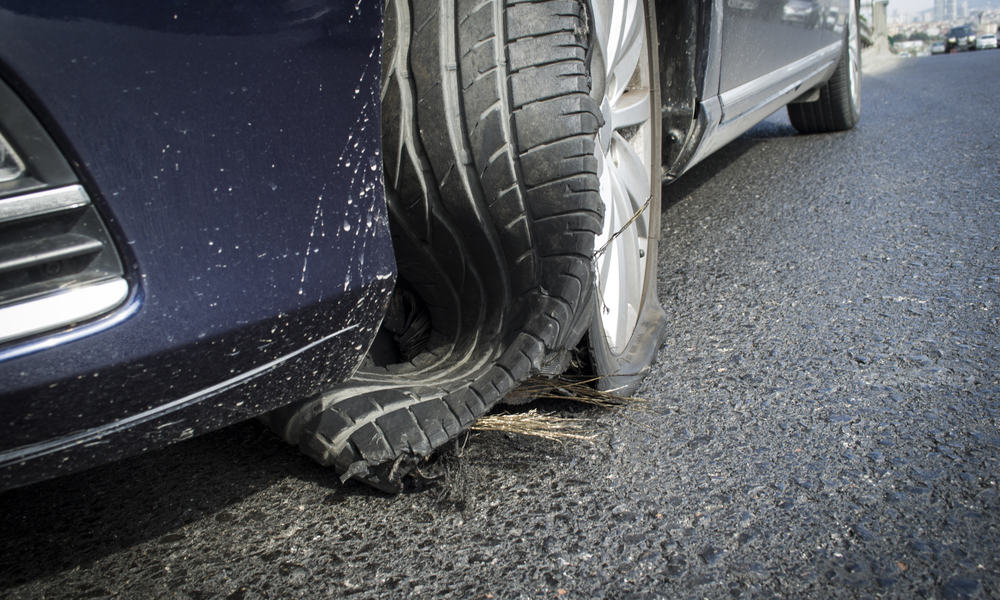 Low tire pressure can lead to a blowout