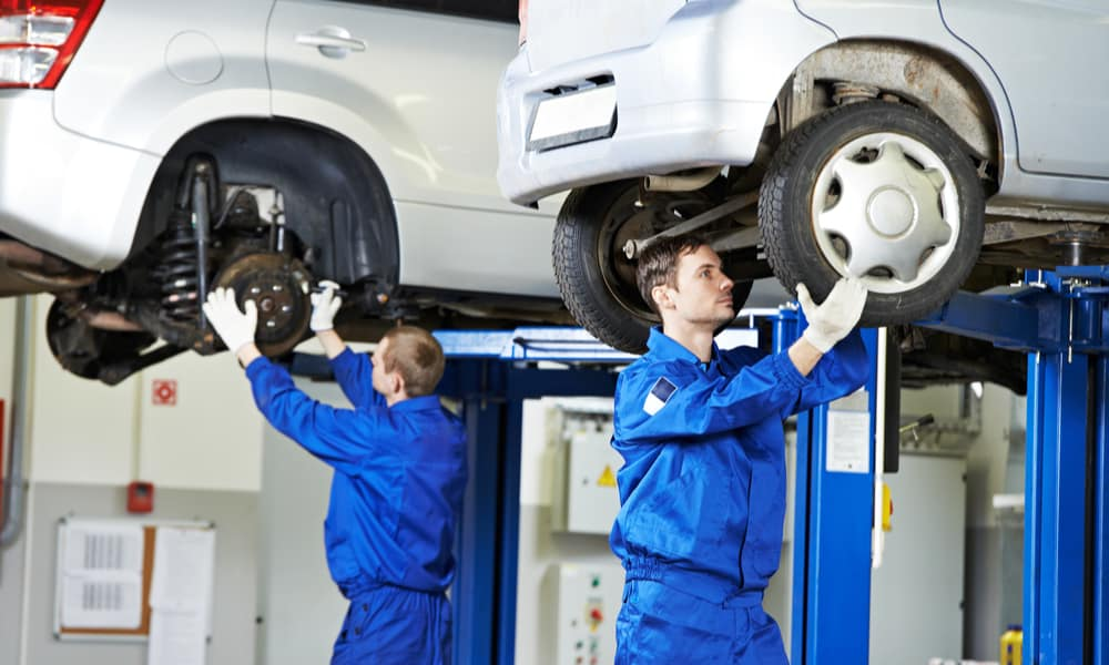 Repair or replace damaged suspension components